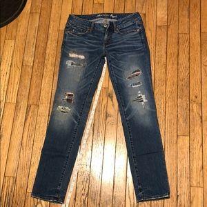 American Eagle Destructed Skinny Stretch Jeans 6